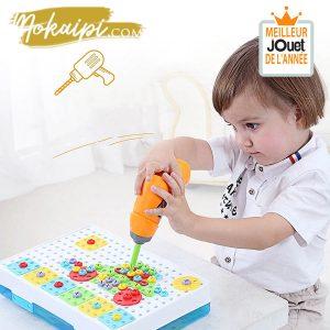 Perceuse Jouet Montessori Jeux de bricolage Ma perceuse electrique magique cadeau enfant jouet de l annee vue01