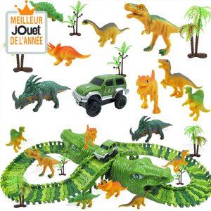 circuit dinosaure jouet dinosaure circuit flexible dinosaure circuit voiture lumineux magic tracks jungle dinosaures dinotrack course voitures principale