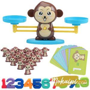 monkey balance monkey jeu du singe jouet montessori educatif mathematiques vue01