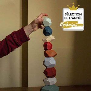 stone balancing technique stone stacking jouet montessori jeu cailloux art cairn detente zen jenga pierres empilees